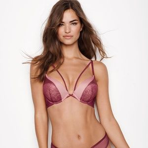 VS RADISH WINE BOMBSHELL PUSH UP BRA & CHEEKY SET
